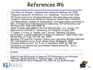 References #6