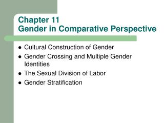 Chapter 11 Gender in Comparative Perspective