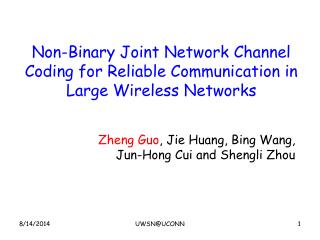 Non-Binary Joint Network Channel Coding for Reliable Communication in Large Wireless Networks