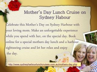 Mothers Day Harbour Celebrations Ideas