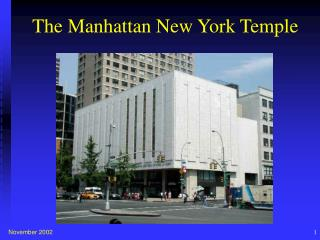 The Manhattan New York Temple