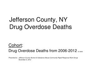 Jefferson County, NY Drug Overdose Deaths