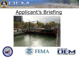Applicant's Briefing