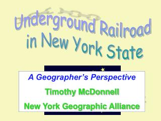 Underground Railroad  in New York State