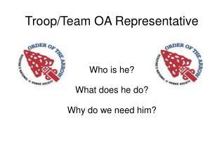 Troop/Team OA Representative