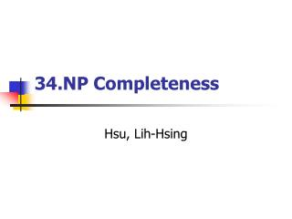 34.NP Completeness