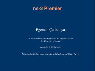 ns-3 Premier