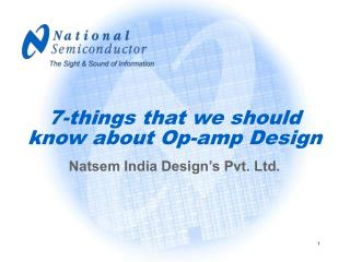 7-things that we should know about Op-amp Design