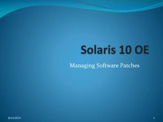 Solaris 10 OE