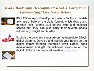 iPad Ebook Publisher