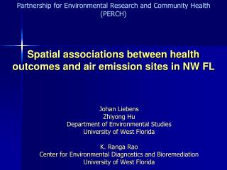 Spatial associations between health outcomes and air emission sites in NW FL