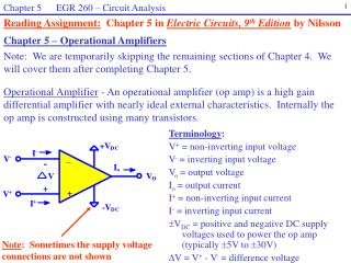 Chapter 5 – Operational Amplifiers