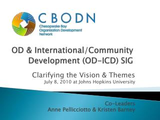 OD & International/Community Development (OD-ICD) SIG