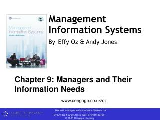 Management Information Systems By Effy Oz & Andy Jones