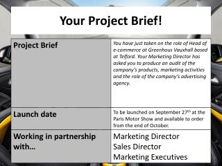 Your Project Brief!