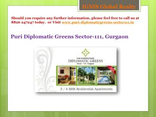 Puri Diplomatic Greens sector-111 gurgaon 9540545454