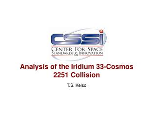 Analysis of the Iridium 33-Cosmos 2251 Collision