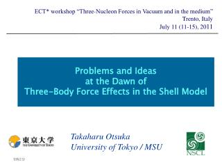 Problems and Ideas at the Dawn of Three-Body Force Effects in the Shell Model