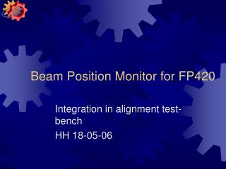 Beam Position Monitor for FP420