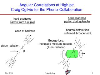 Angular Correlations at High pt: Craig Ogilvie for the Phenix Collaboration