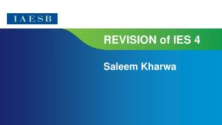 REVISION of IES 4