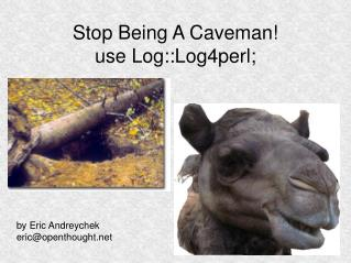 Stop Being A Caveman! use Log::Log4perl;