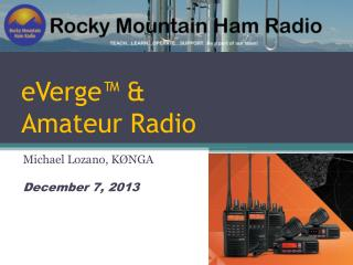 eVerge™ & Amateur Radio