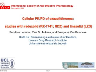 Intracellular vs extracellular activity of antibiotics : PK  –  PD  in action