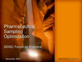 Pharmaceutical Sampling     Optimization