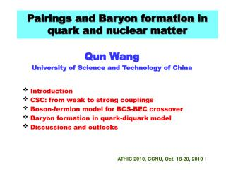 Pairings and Baryon formation  in quark and nuclear matter