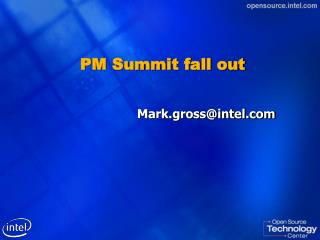 PM Summit fall out