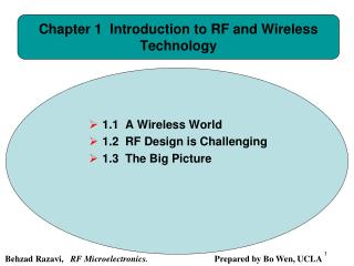 Chapter 1  Introduction to RF and Wireless Technology