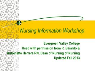 Nursing Information Workshop