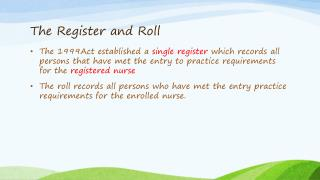 The Register and Roll