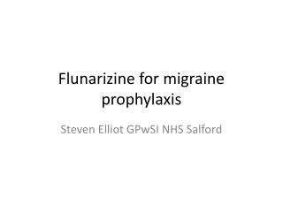 Flunarizine for migraine prophylaxis