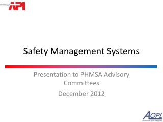 Safety Management Systems