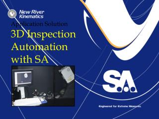 Application Solution 3D Inspection Automation  with SA
