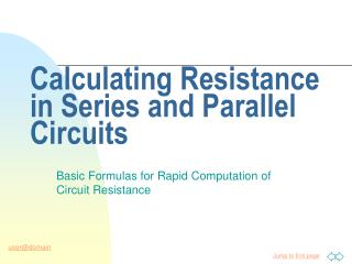 Calculating Resistance in Series and Parallel Circuits