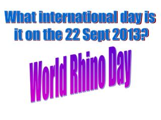What international day is  it on the 22 Sept 2013?