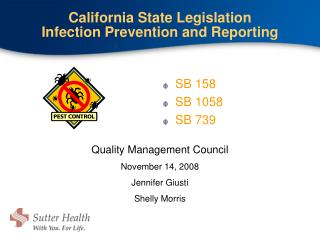 California State Legislation Infection Prevention and Reporting