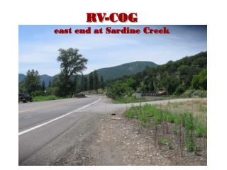 RV-COG east end at Sardine Creek