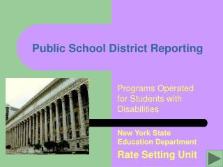 Public School District Reporting