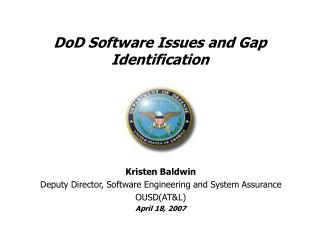 DoD Software Issues and Gap Identification