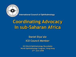 Coordinating Advocacy In sub-Saharan Africa