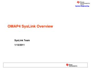 OMAP4 SysLink Overview