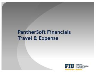PantherSoft Financials Travel & Expense
