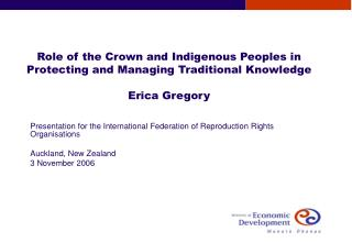 Presentation for the International Federation of Reproduction Rights Organisations