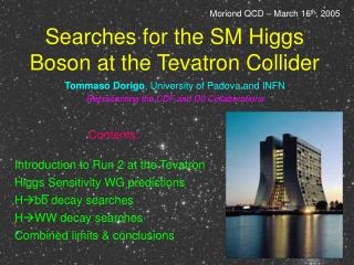 Searches for the SM Higgs Boson at the Tevatron Collider