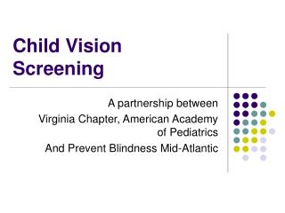Child Vision Screening
