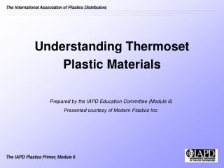 Understanding Thermoset  Plastic Materials
